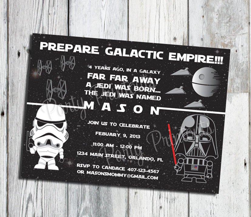 Printable Star Wars Invitation Star Wars Invitation Printable Star Wars Party Invitations