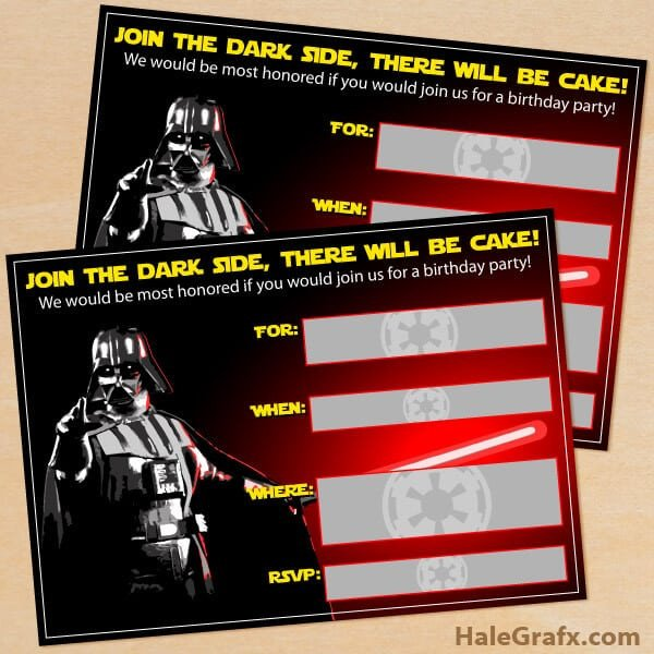 Printable Star Wars Invitation the Best Star Wars Party Ideas Happiness is Homemade