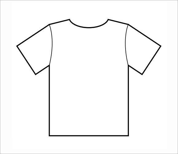 Printable T Shirt Templates 7 Sample T Shirts Psd Vector