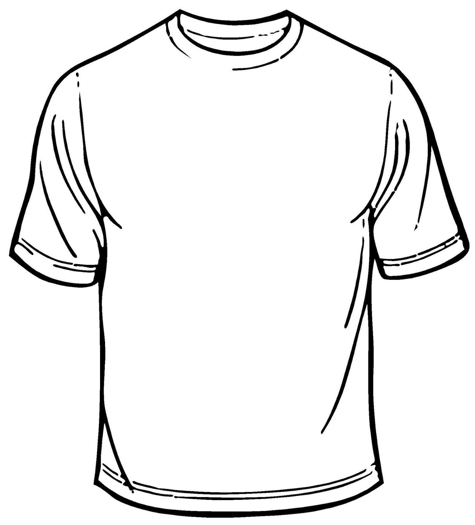 Printable T Shirt Templates Blank T Shirt Coloring Sheet Printable