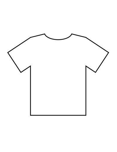 Printable T Shirt Templates Blank T Shirt Templates
