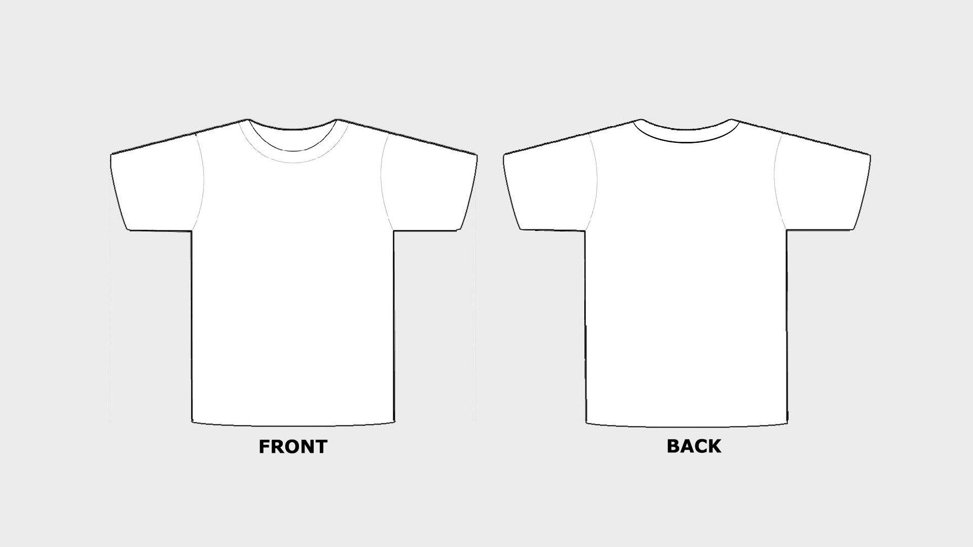 Printable T Shirt Templates Blank Tshirt Template Printable In Hd Hd Wallpapers