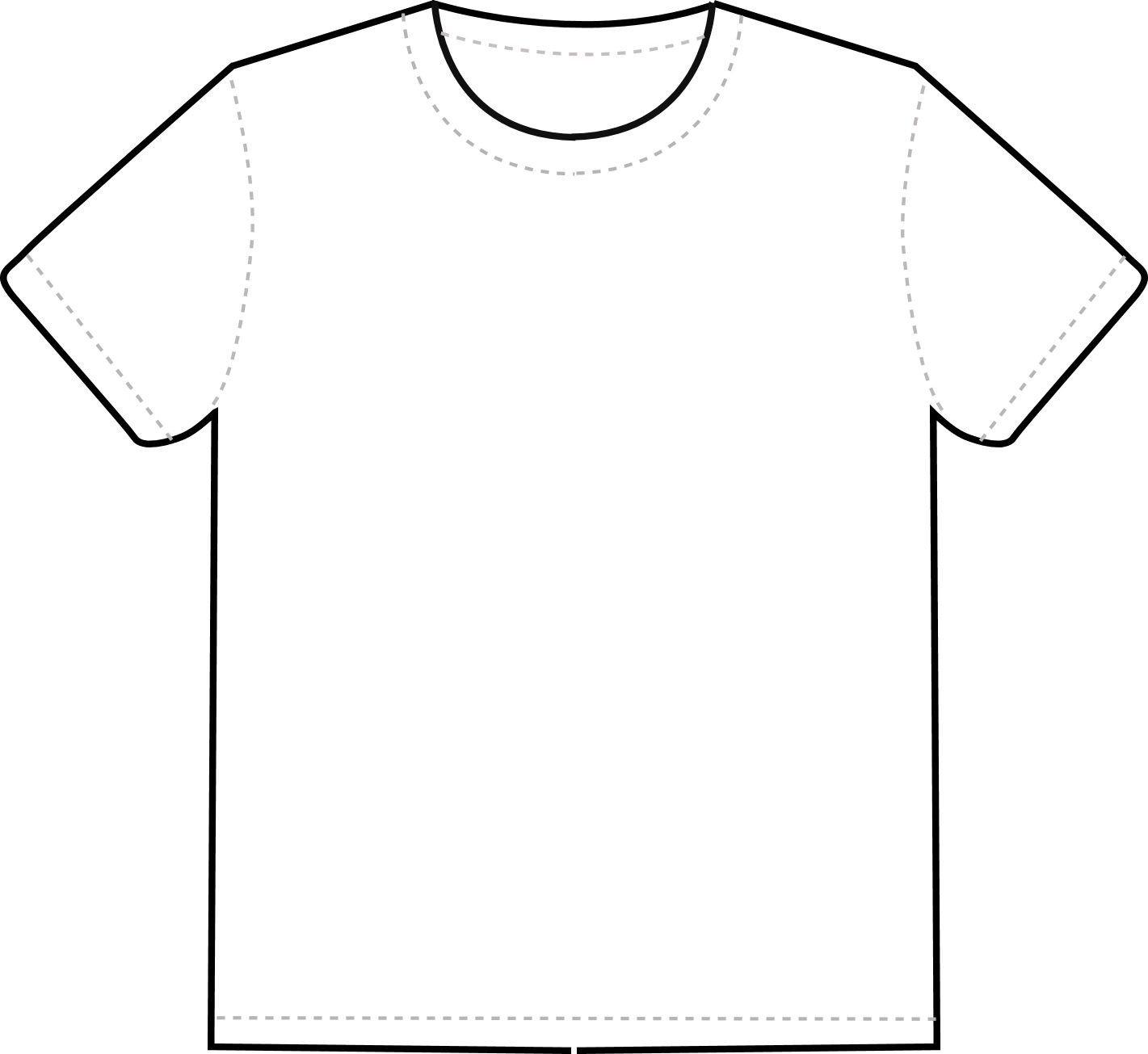 Printable T Shirt Templates T Shirt Outline Clipart Clipart Best Clipart Best