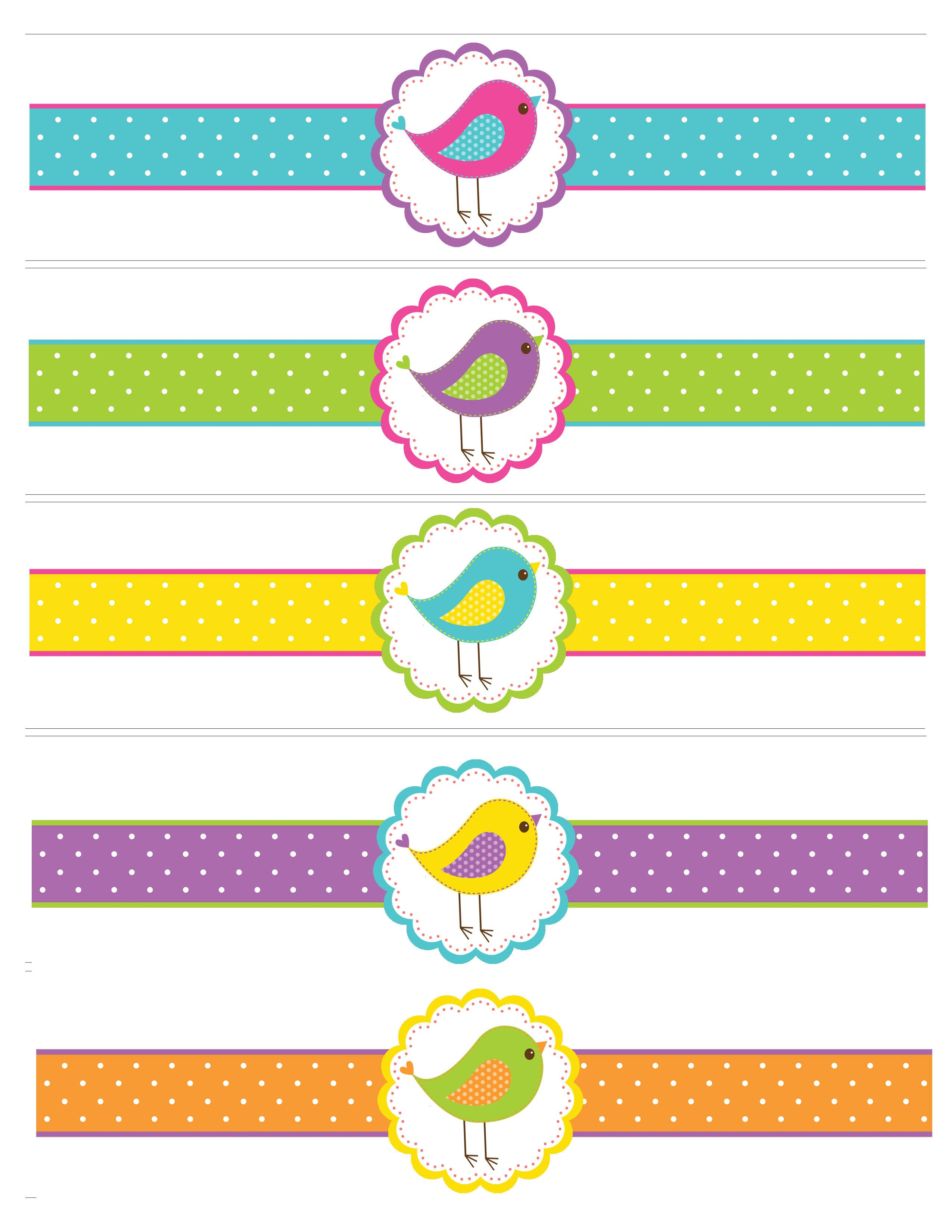 Printable Water Bottle Labels Bird themed Birthday Party with Free Printables How to