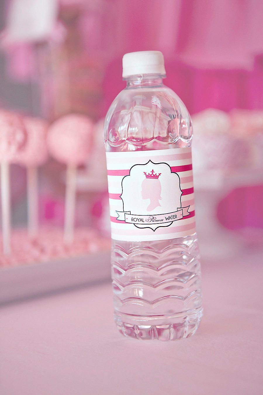 Printable Water Bottle Labels Diy Printable Water Bottle Labels Princess Party