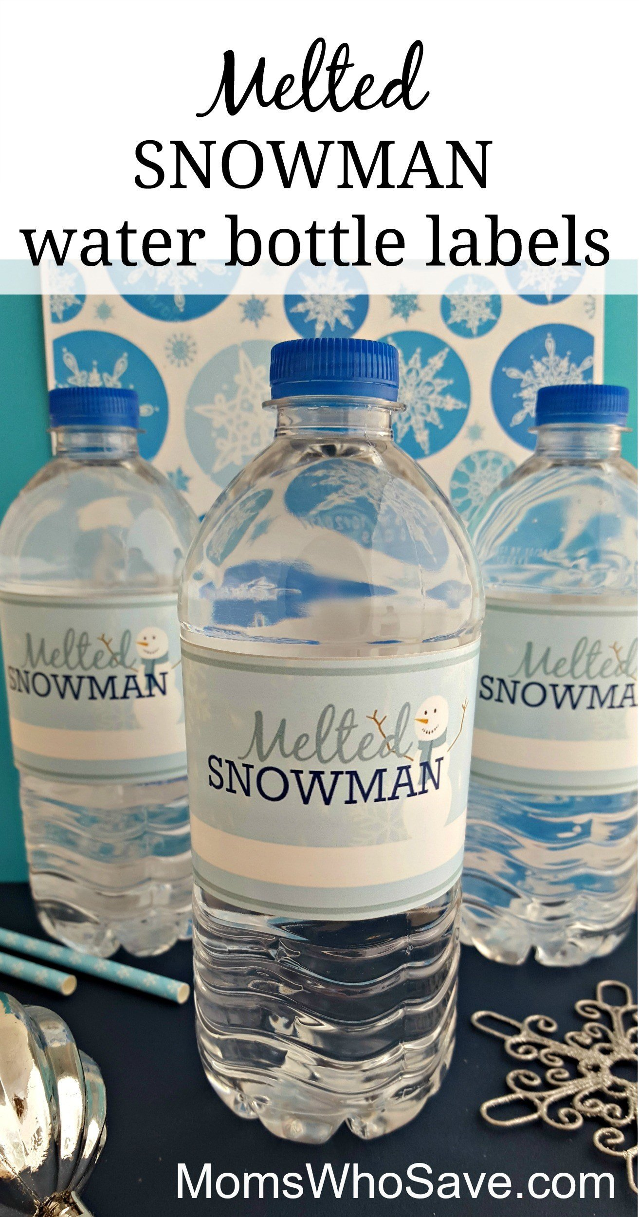 Printable Water Bottle Labels Easy Diy — Free Printable Melted Snowman Water Bottle