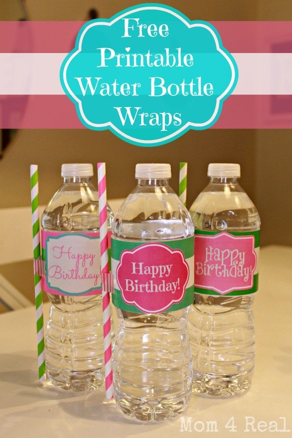 Printable Water Bottle Labels Free Printable Happy Birthday Water Bottle Label Wraps