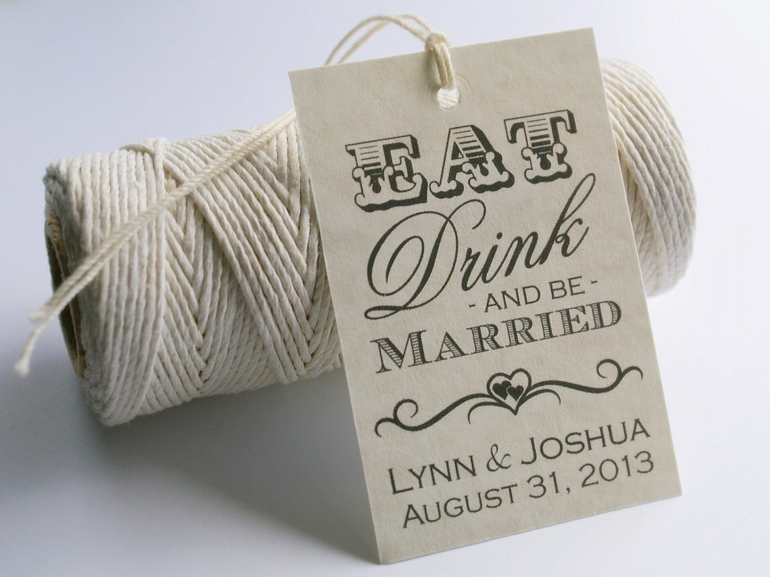 Printable Wedding Favor Tags Eat Drink and Be Married Tags Printable Wedding Favor Tags
