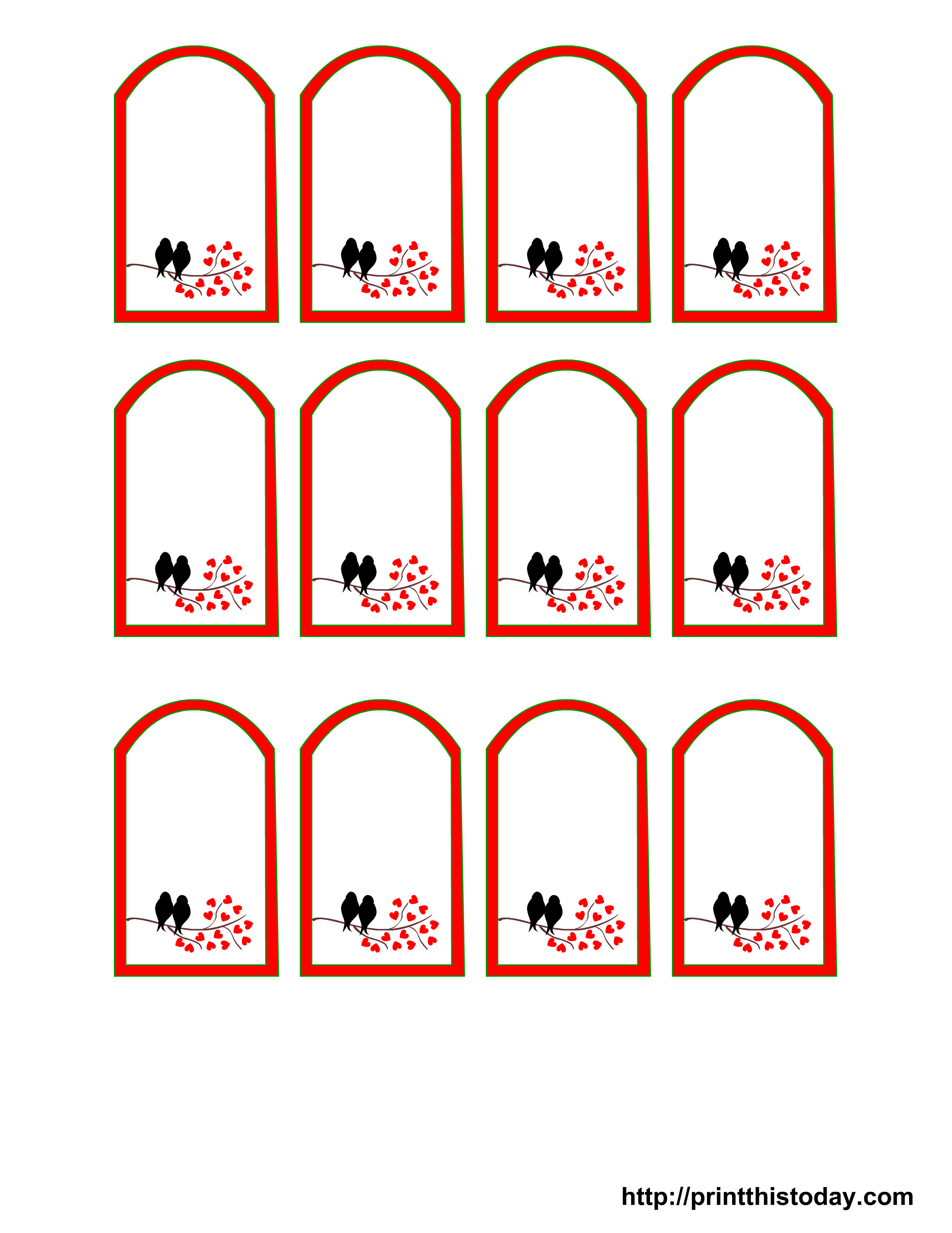 Printable Wedding Favor Tags Free Printable Wedding Favor Tags