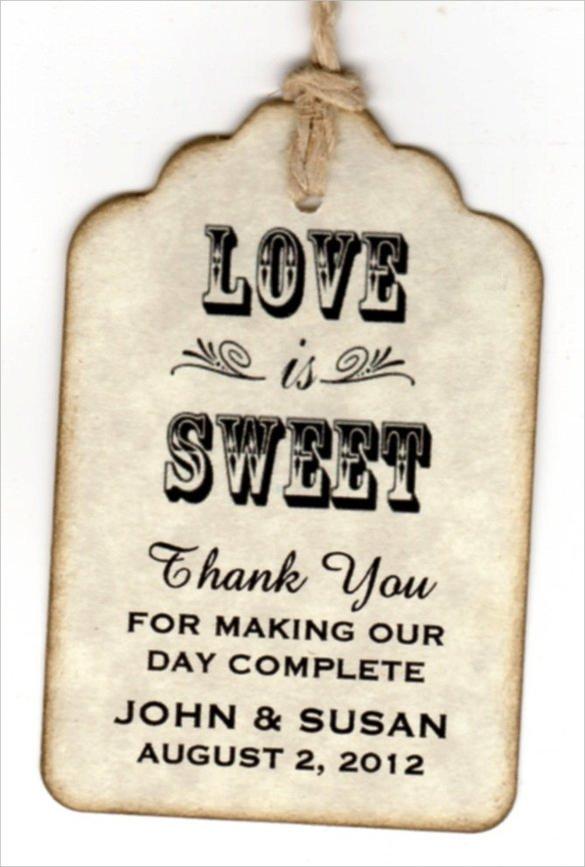 Printable Wedding Favor Tags Gift Tag Template 27 Free Printable Vector Eps Psd