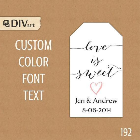 Printable Wedding Favor Tags Printable 1 25x2 25 Wedding Favor Tags Shower Favor Tags