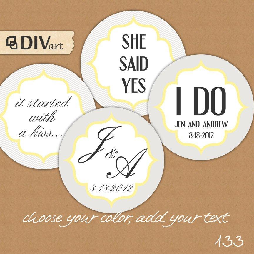 Printable Wedding Favor Tags Printable 2 Wedding Favor Tags Gift Tags Thank You Tags by