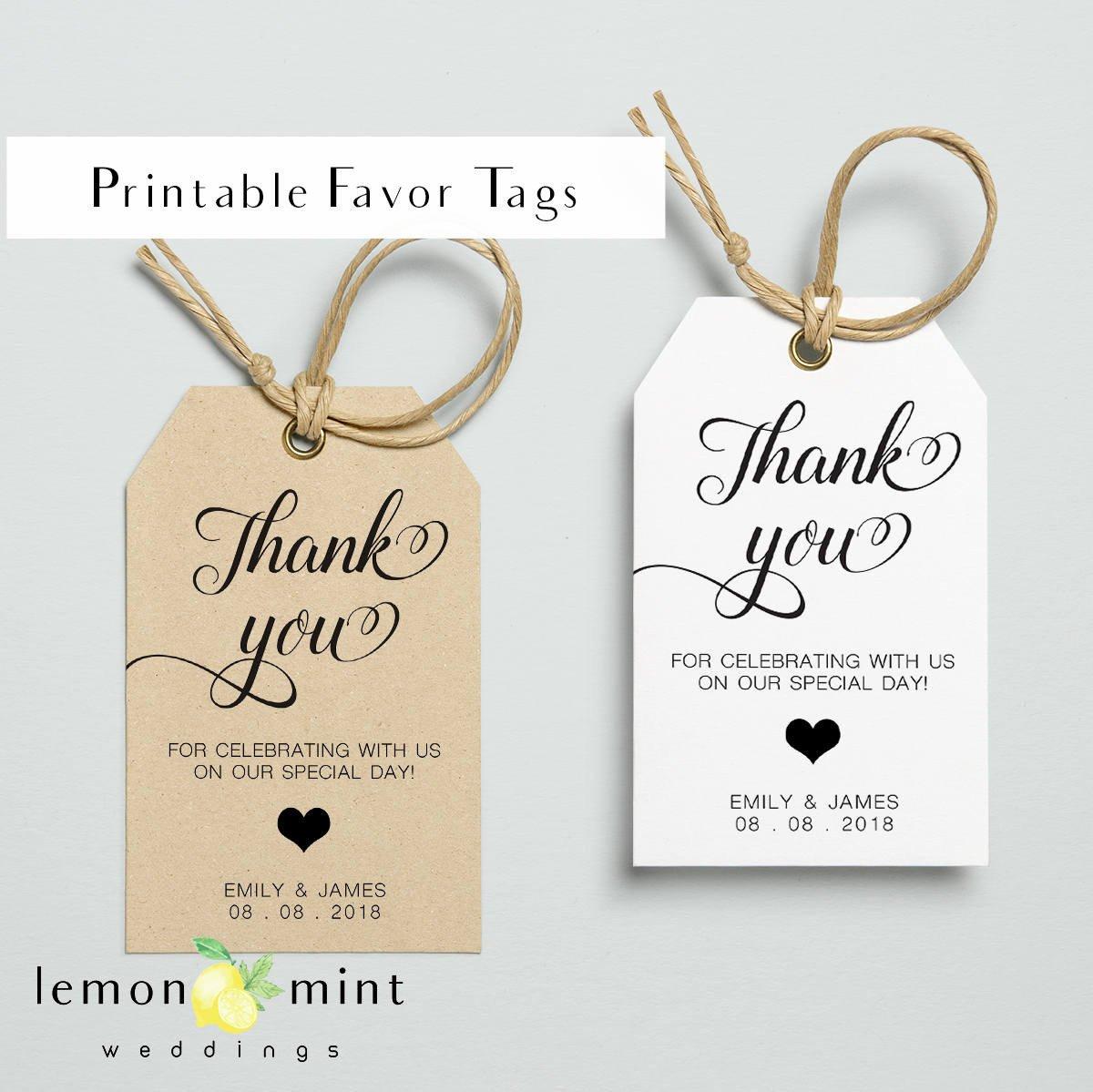Printable Wedding Favor Tags Printable Favor Tags Printable Personal Favor Tag Wedding
