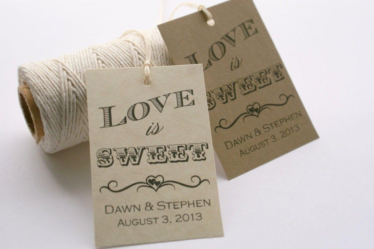 Printable Wedding Favor Tags Printable Love is Sweet Tags Personalized Wedding Favor Tags