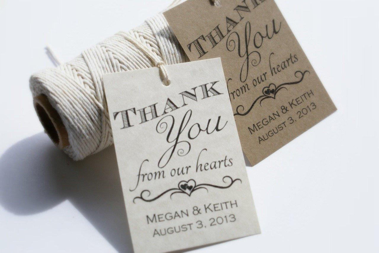 Printable Wedding Favor Tags Printable Wedding Favor Tags Custom Diy Thank by