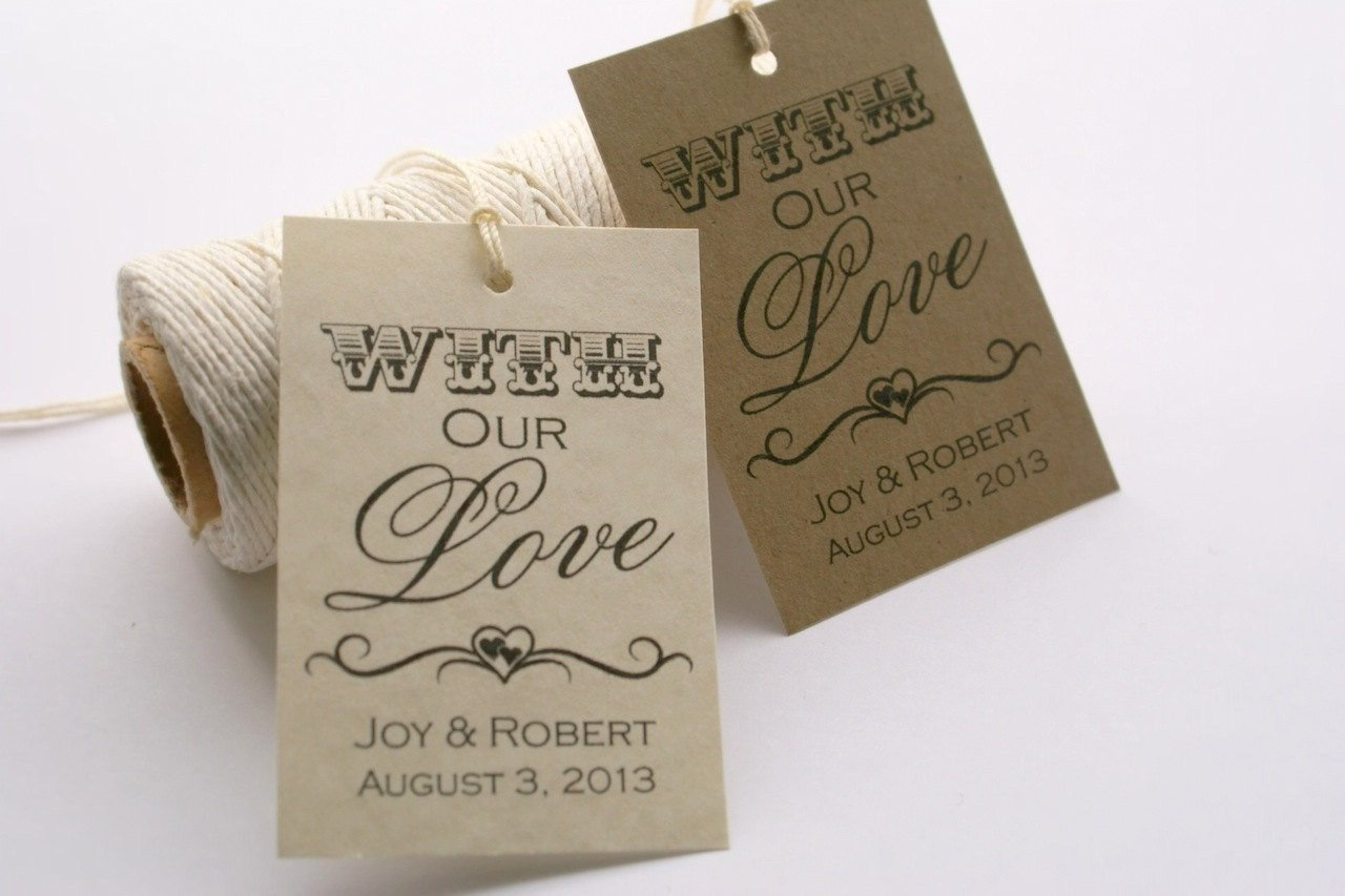 Printable Wedding Favor Tags Printable Wedding Favor Tags with Our Love by eventprintables