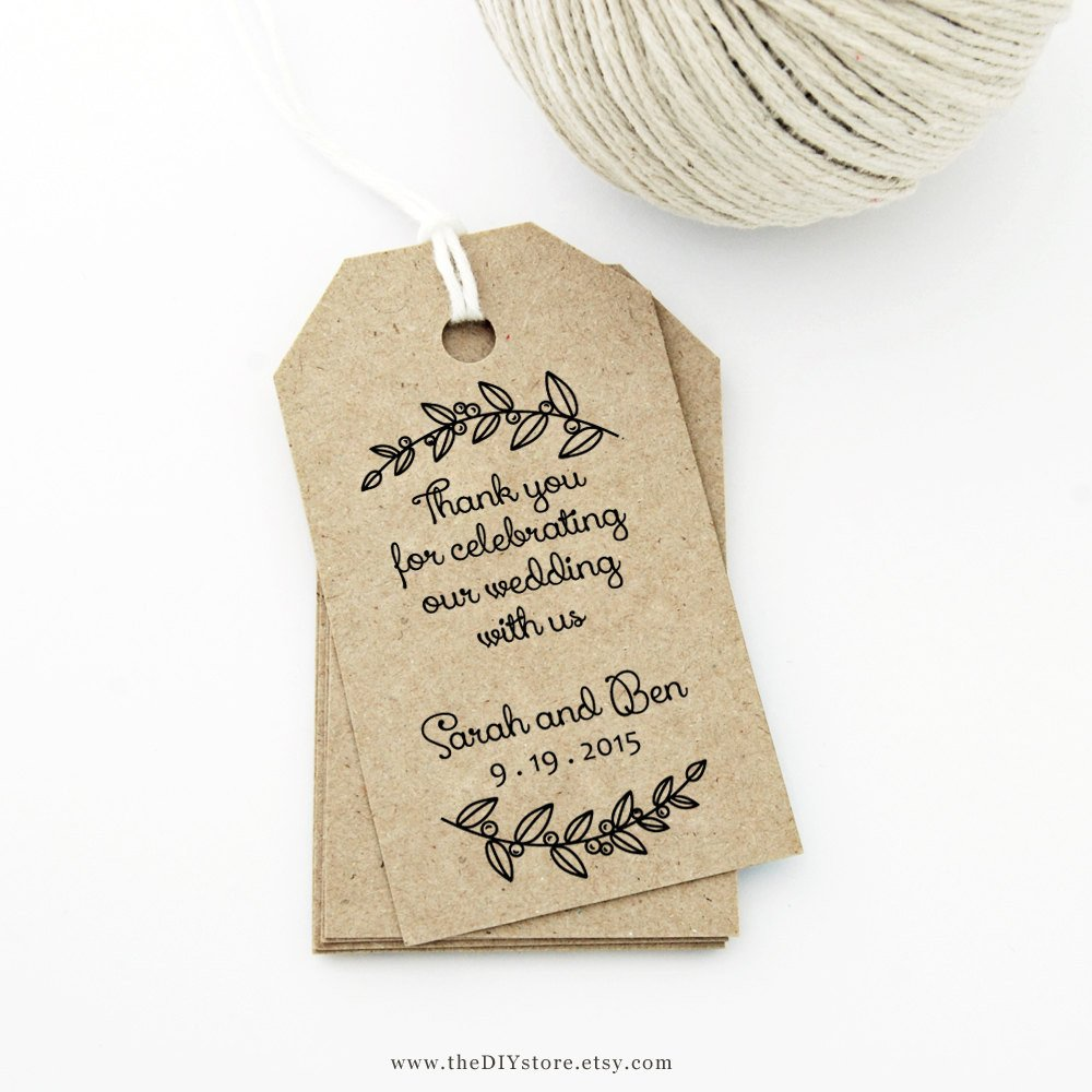 Printable Wedding Favor Tags Thank You Tag Medium Wedding Tag Gift Tag Love Laurels