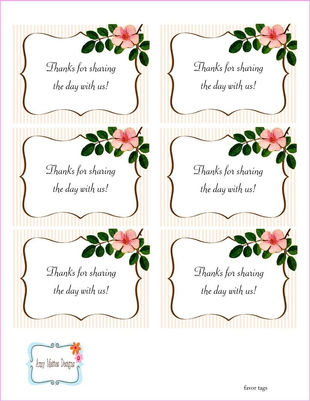 Printable Wedding Favor Tags the Beautiful Wedding Favor Tags as Our Identity Free