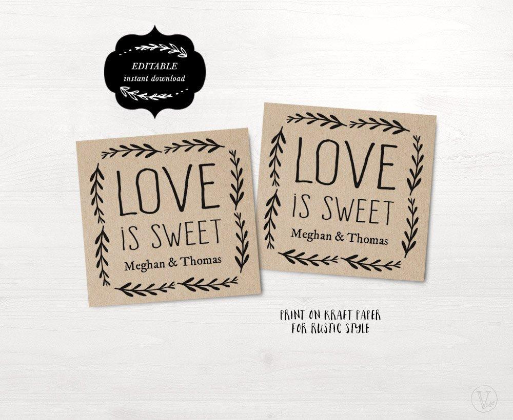 Printable Wedding Favor Tags Wedding Favor Tags Printable Wedding Favor Tag Template Love