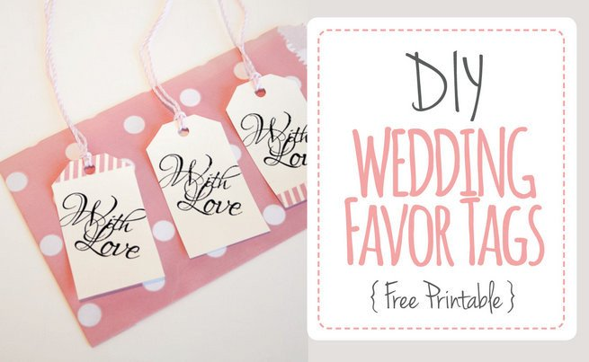 """Printable Wedding Favor Tags Wedding Favor Tags """"with Love"""" Luggage Tag Printable"""
