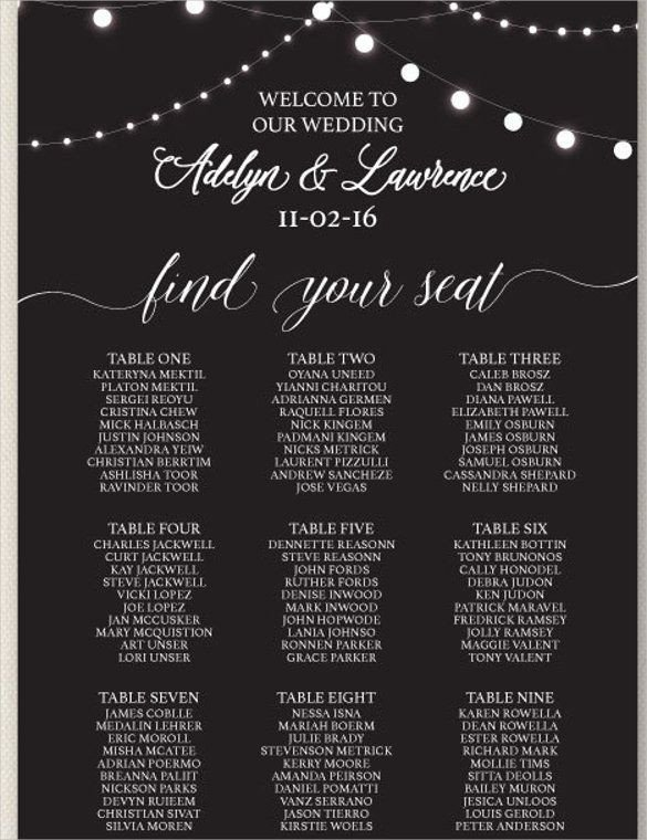 Printable Wedding Seating Chart 25 Best Seating Chart Template Ideas On Pinterest