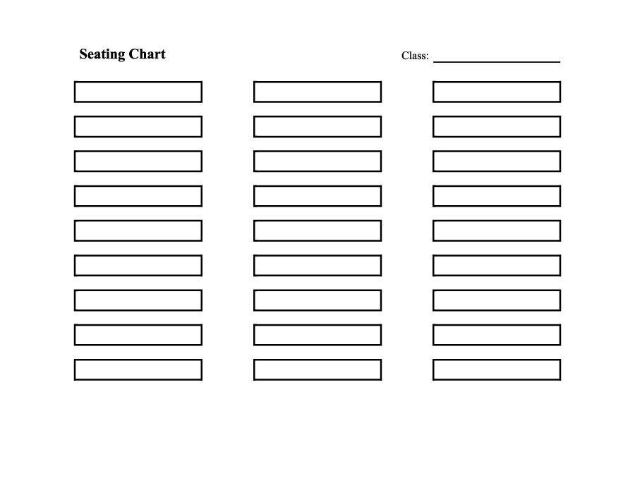 Printable Wedding Seating Chart 40 Great Seating Chart Templates Wedding Classroom More