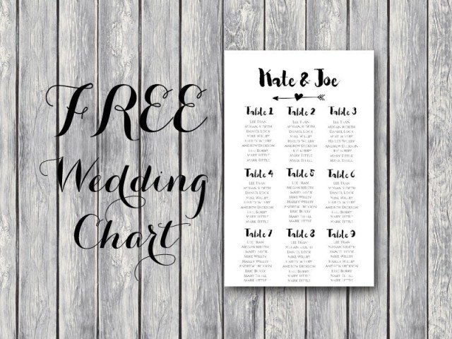 Printable Wedding Seating Chart Free Arrow Wedding Seating Chart Template Bride Bows