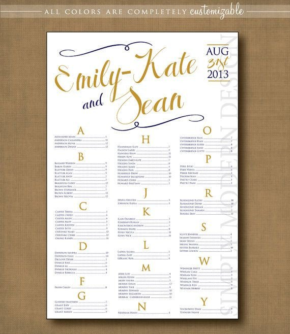 Printable Wedding Seating Chart Swirls Wedding Seating Chart Printable