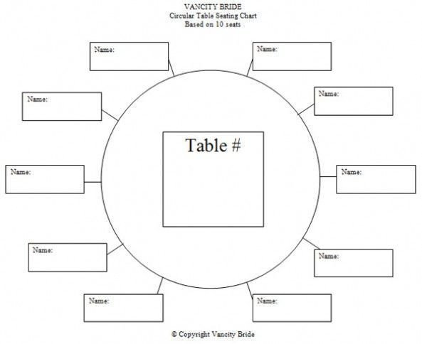 Printable Wedding Seating Chart Table assignment Template Google Search