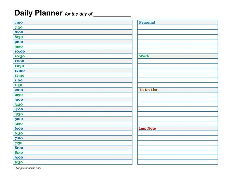 Printable Weekly Planner Template 40 Printable Daily Planner Templates Free Template Lab