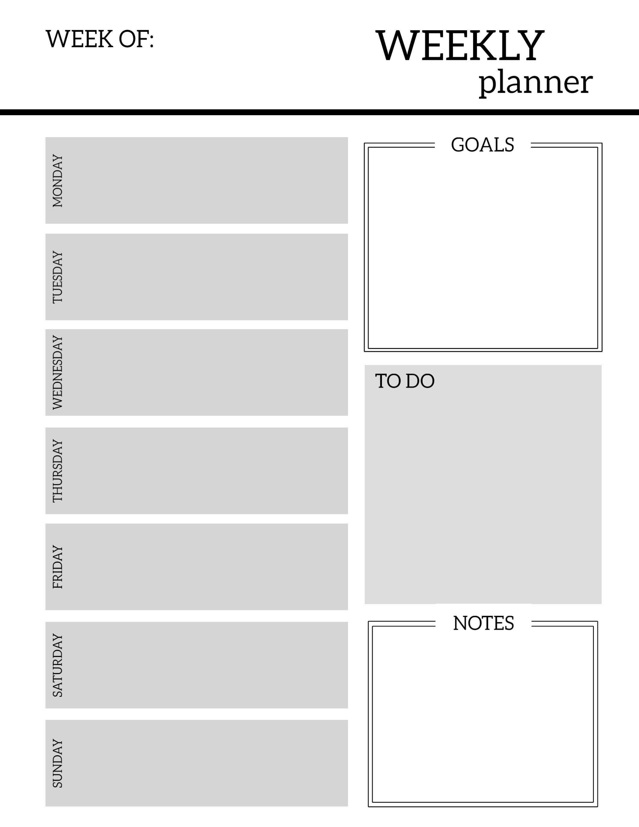 Printable Weekly Planner Template Free Printable Weekly Planner Pages Paper Trail Design