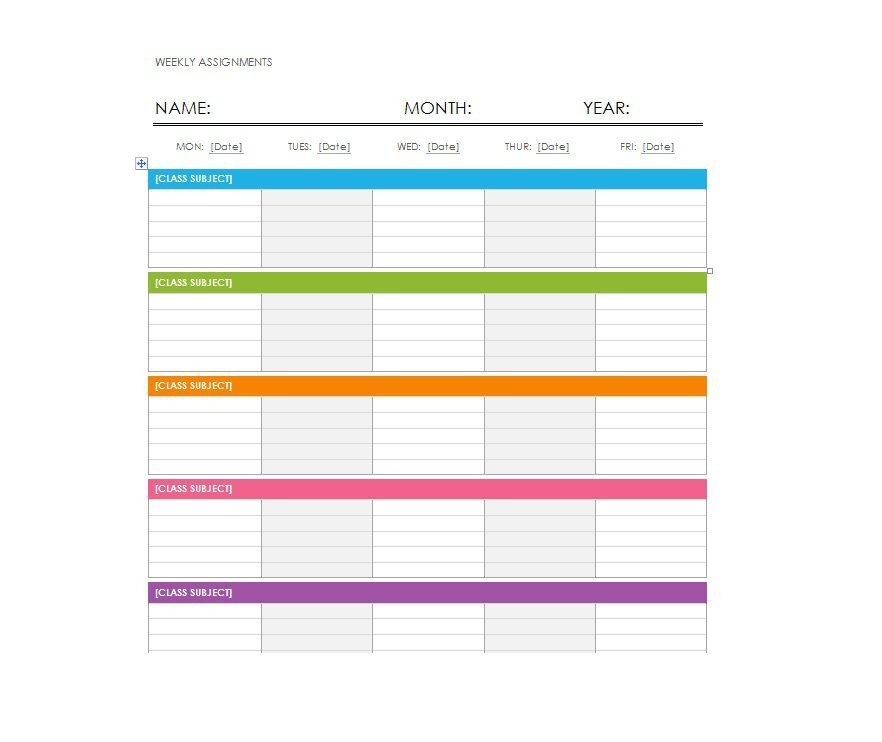 Printable Weekly Schedule Template 26 Blank Weekly Calendar Templates [pdf Excel Word]