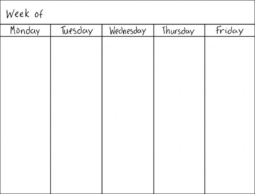Printable Weekly Schedule Template Blank Weekly Calendars Printable