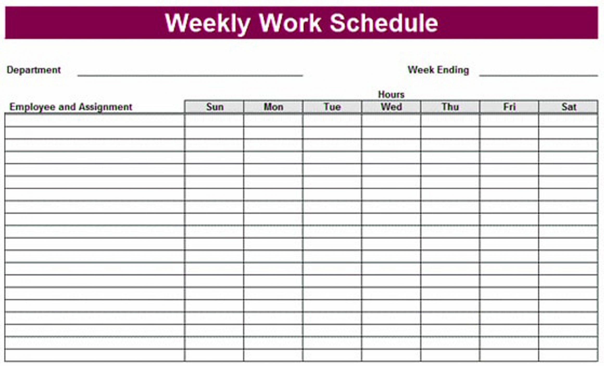 Printable Weekly Schedule Template Printable Weekly Schedule Template & Excel Planner