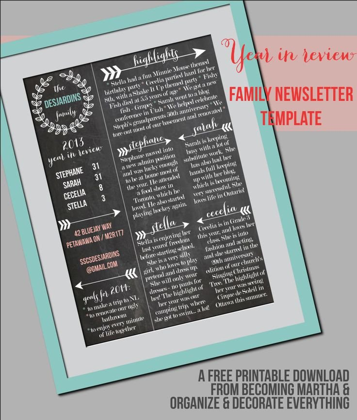 Printed Newsletter Templates Free 11 Best Sample Newsletters Images On Pinterest
