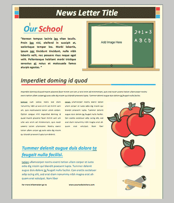 Printed Newsletter Templates Free 40 Word Newsletter Template Psd Pdf Doc