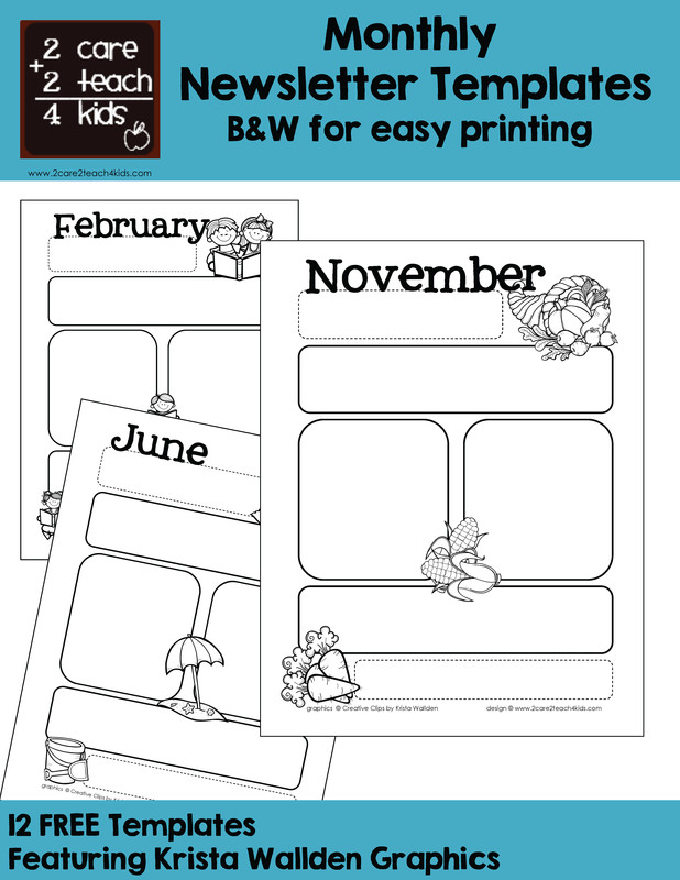 Printed Newsletter Templates Free Basic Newsletters Free Printable Templates