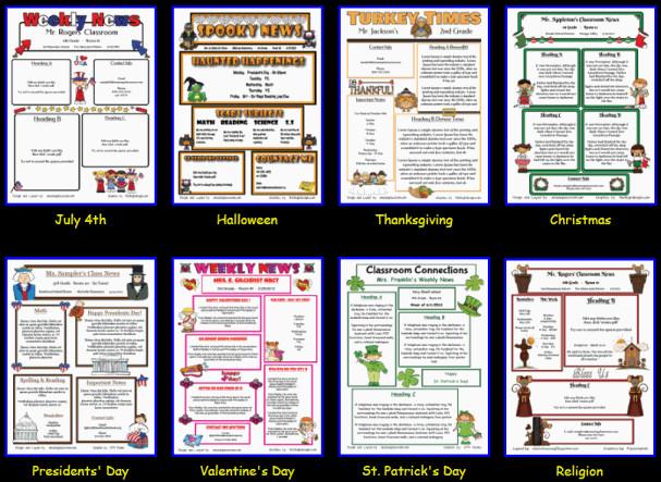 Printed Newsletter Templates Free Custom Classroom Newsletter Printable Sample Home