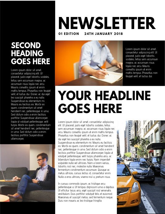 Printed Newsletter Templates Free Design A Newsletter Free Templates