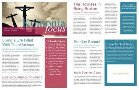 Printed Newsletter Templates Free Free Church Newsletter Template Print