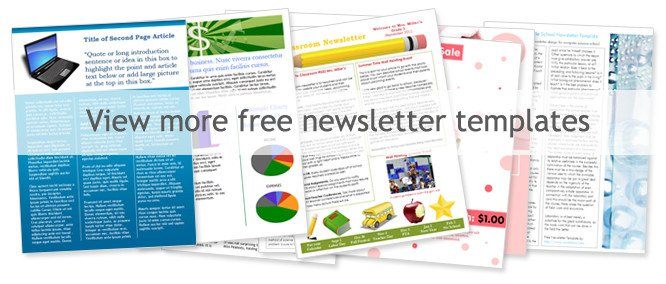 Printed Newsletter Templates Free Free Church Newsletter Templates Worddraw