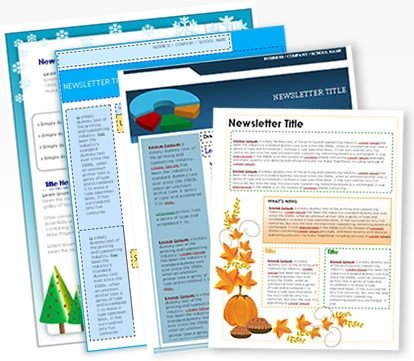 Printed Newsletter Templates Free Free Newsletter Templates