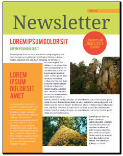 Printed Newsletter Templates Free Newsletter Templates Free