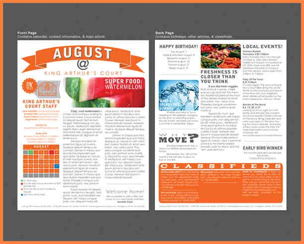 Printed Newsletter Templates Free Print Newsletter Templates – Emmamcintyrephotography
