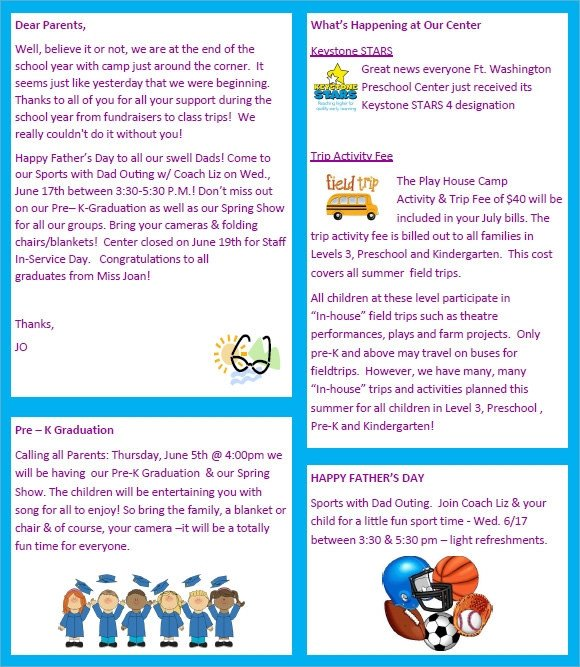 Printed Newsletter Templates Free Sample Preschool Newsletter 8 Free Download for Word Pdf