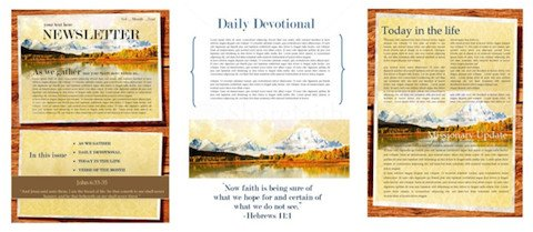Printed Newsletter Templates Free the Power Of A Printable Newsletter Template Faith
