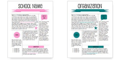 Printed Newsletter Templates Free Worddraw Free Newsletter Templates for Microsoft Word