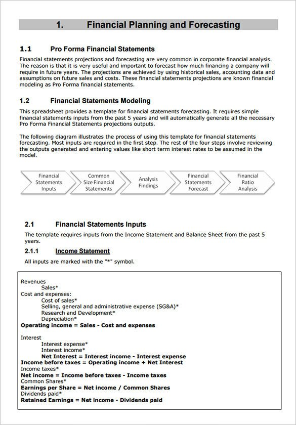 Pro forma Financial Statement Template Sample Proforma In E Statement 9 Documents In Pdf Word