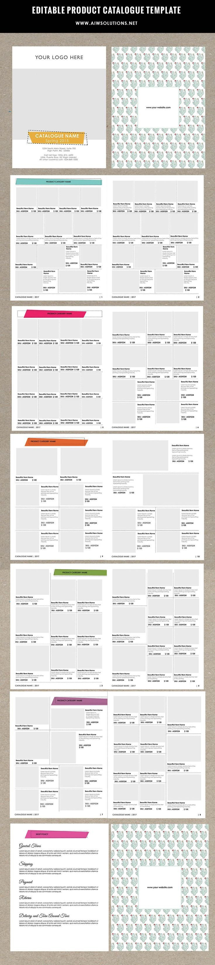 Product Catalogue Template Word 25 Best Catalog Layout Ideas On Pinterest