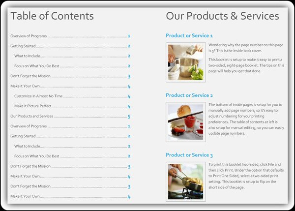 Product Catalogue Template Word Free Product Catalog Template Word